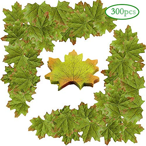 Lulonpon Artificial Maple Leaves Approximately Assorted Mixed Fall Rich Artificial Flower Fall Colored Silk Maple Leaves for Weddings, Autumn Party,Events and Decorating Hardwork ()