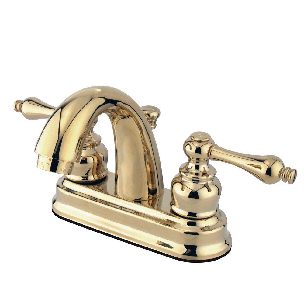 Polished Brass Kingston Brass FB5612AL 3-5//8-Inch in Spout Reach Restoration 4-Inch Centerset Lavatory Faucet