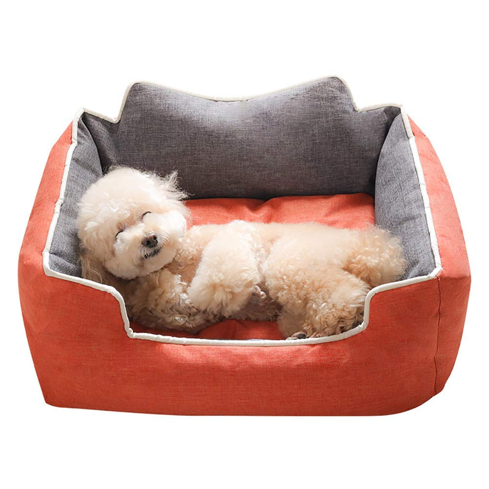 orange XXL(1209026cm) orange XXL(1209026cm) HeiPlaine Pet Sofa Pet Bed Sofa House for Dog Cat, Washable Covers, Durable,Waterproof, Available in All Seasons (color   orange, Size   XXL(120  90  26cm))