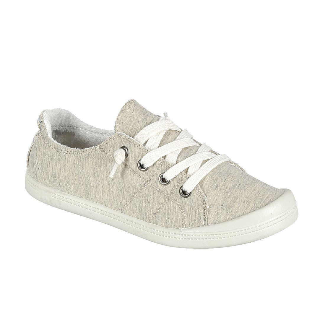 Forever FQ76 Women's Lace up White Sole Casual Street Sneakers B07BF6L6X9 6 B(M) US|Beige
