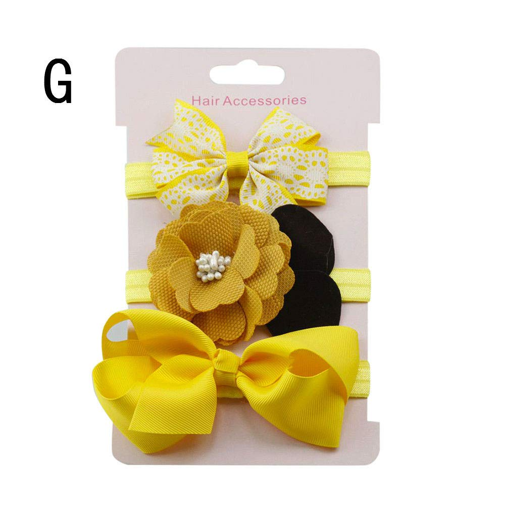 2PCs Set Nylon Baby Newborn Slim Leather Bow Knot Newborn Girl Headband