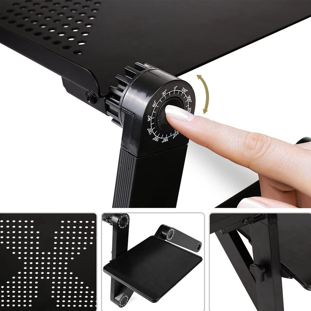 RONSHIN 360-Grad-verstellbarer Laptop-Tisch Buchst鋘der Fr黨st點k Servierbett Bett Tablett Home Office Notebook PC Knietablett Schreibtisch St鋘der