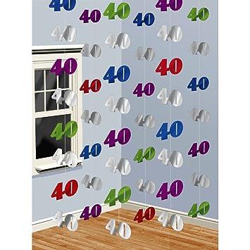 NET TOYS Guirnalda Decorativa para el 40 cumpleaños Adornos ...
