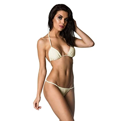 670cccdd9fd THE MESH KING Coqueta Swimwear Women Sexy G-String Teeny Mini Brazilian  Bikini Thong Swimsuit