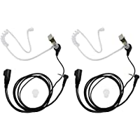 abcGoodefg® 1 Pin Covert Acoustic Tube Earpiece Headset for Motorola COBRA Talkabout Walkie Talkie Two Way Radio 1pin MD200TPR MH230R MR350R MS350R MT350R MG160A MH230TPR (2 PCS) … (2 PCS)