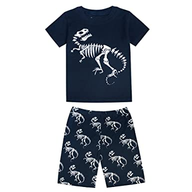 Little Big Boys Summer Snug-Fit Pajamas Short 100/% Cotton Kids Pjs Sets