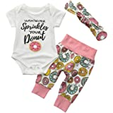 ❤️Baby Clothes Set,Hot New Fashion 2018 Neartime Newborn Cute Infant Toddler Baby Girls Desserts Outfits Clothes Romper Tops+Pants+Headband Set