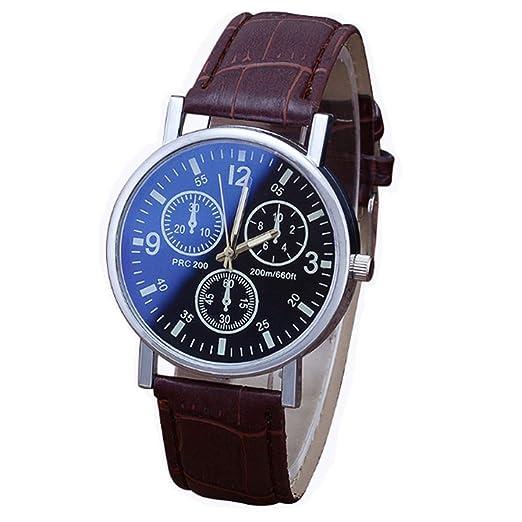Reloj de Pulsera analógico de Cuarzo para Hombre 2018 Witer Fashion PU Leather Bluray Casual: Amazon.es: Relojes