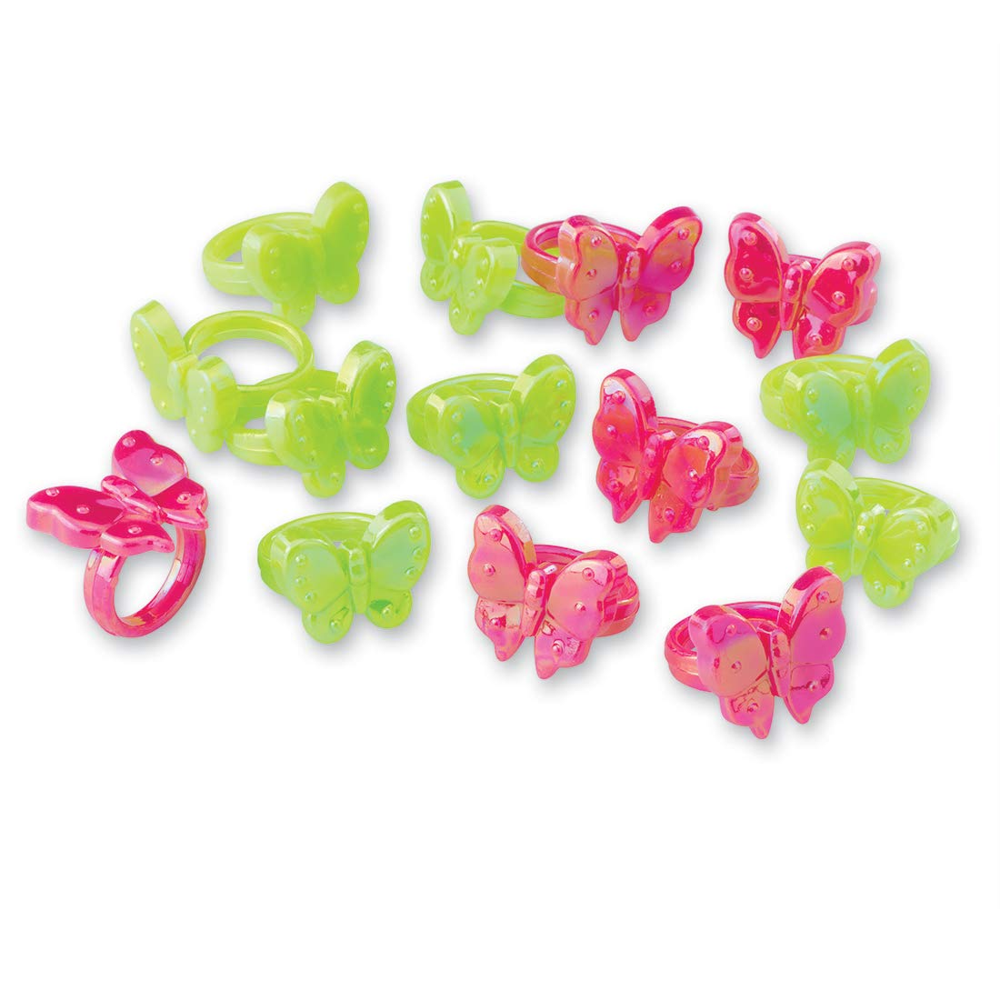 SmileMakers Plastic Butterfly Rings - Prizes 144 per Pack