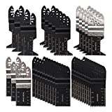 HIFROM 36PCS Universal Oscillating Ecut Multi Tool Saw Blade Fits for Fein Multimaster Makita Genesis Craftsman Nextec Ridgid Ryobi Makita Milwaukee Dewalt Chicago Stainley Skil King Task Multi Tools