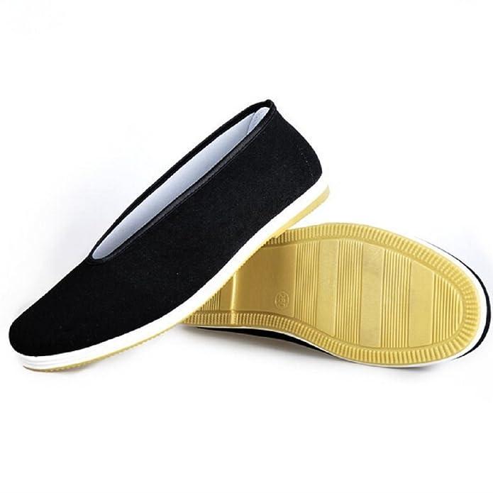 DADAWEN - Zapatillas de artes marciales de Lona para hombre, color negro, talla 41 EU