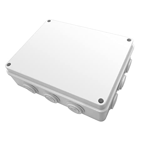 MaxxOne White External Junction Box   100x100x70mm