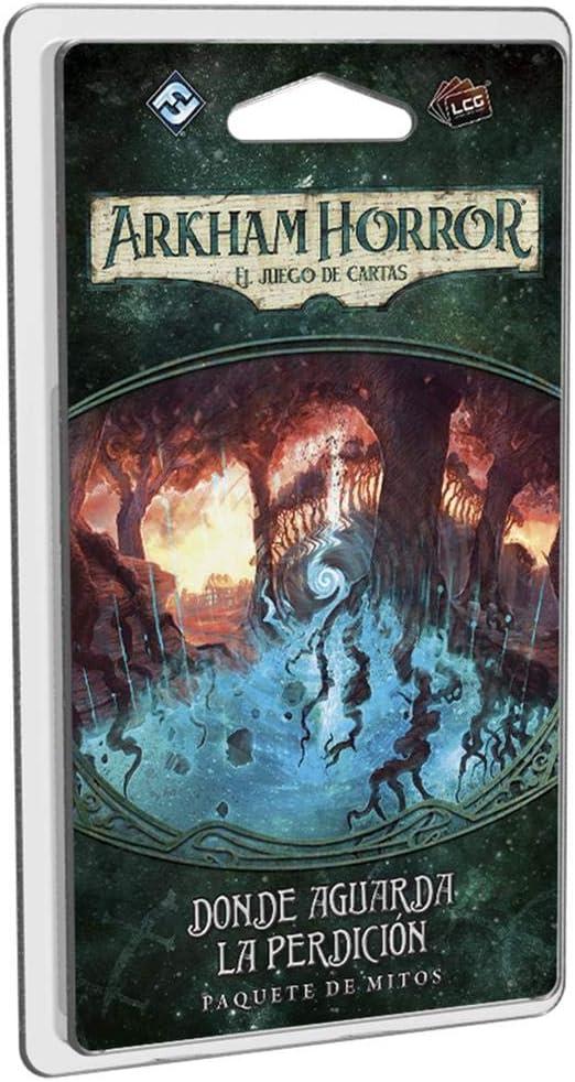 Fantasy Flight Games- Arkham Horror LCG: Donde aguarda la perdición - Español, Color (FFAHC07): Amazon.es: Juguetes y juegos