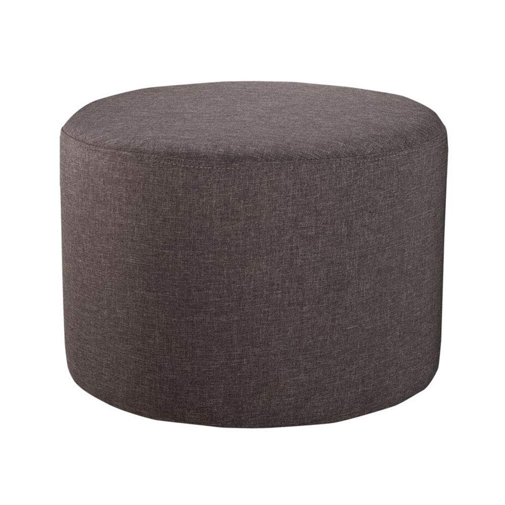 T2 CJC Stool Footrest Footstool Round Change shoes Bench Sitting Lazy Removable Cover (color   T1)