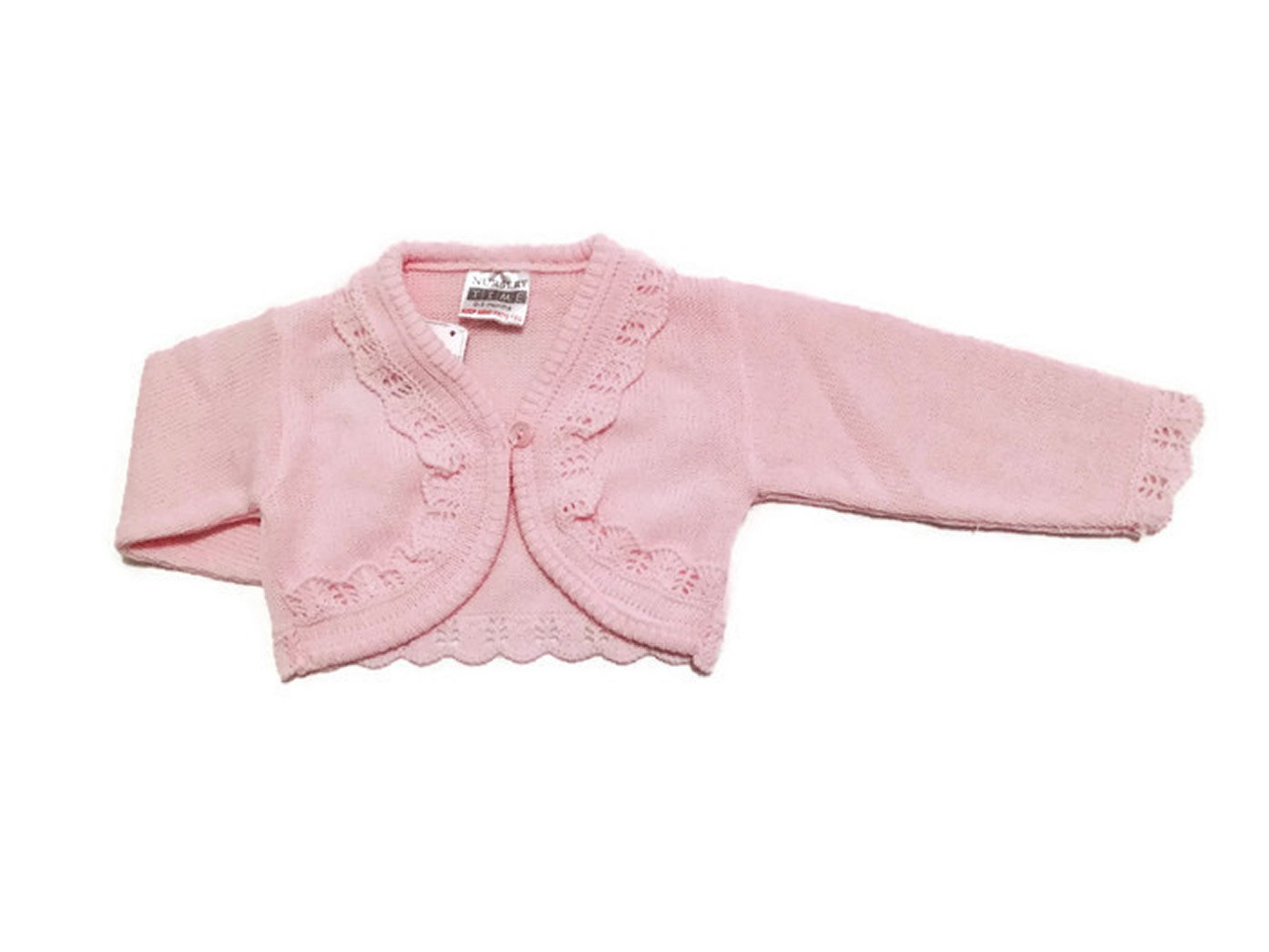 Baby Girls Bolero Fancy Cardigan Shrug 0 - 24 months (3-6 Months, Pink)