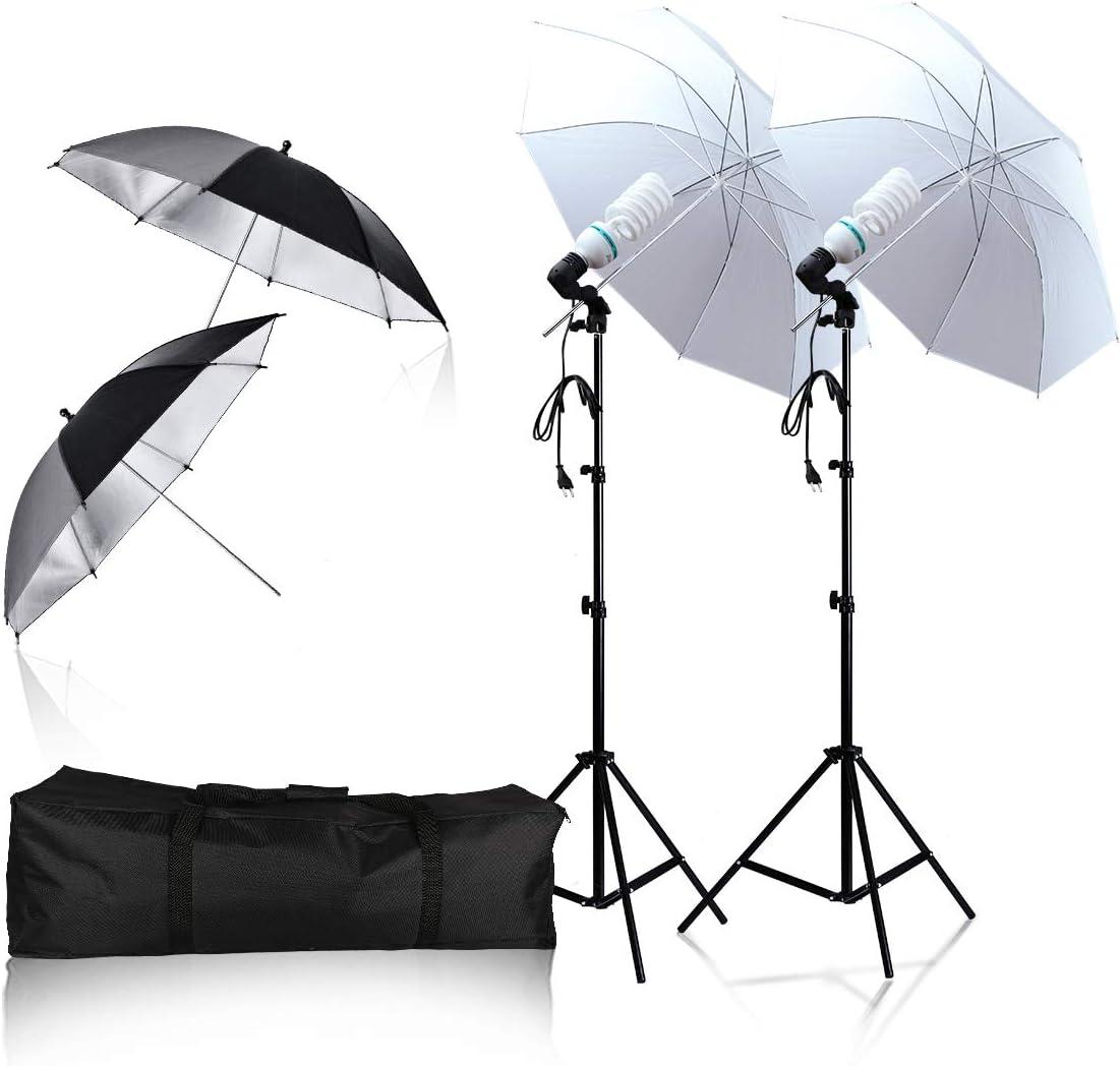 Soft Light Umbrella 135W 6500K Daylight Continuous Lighting Photography Light Kit Professional Photography Studio Still Life Portrait Photography