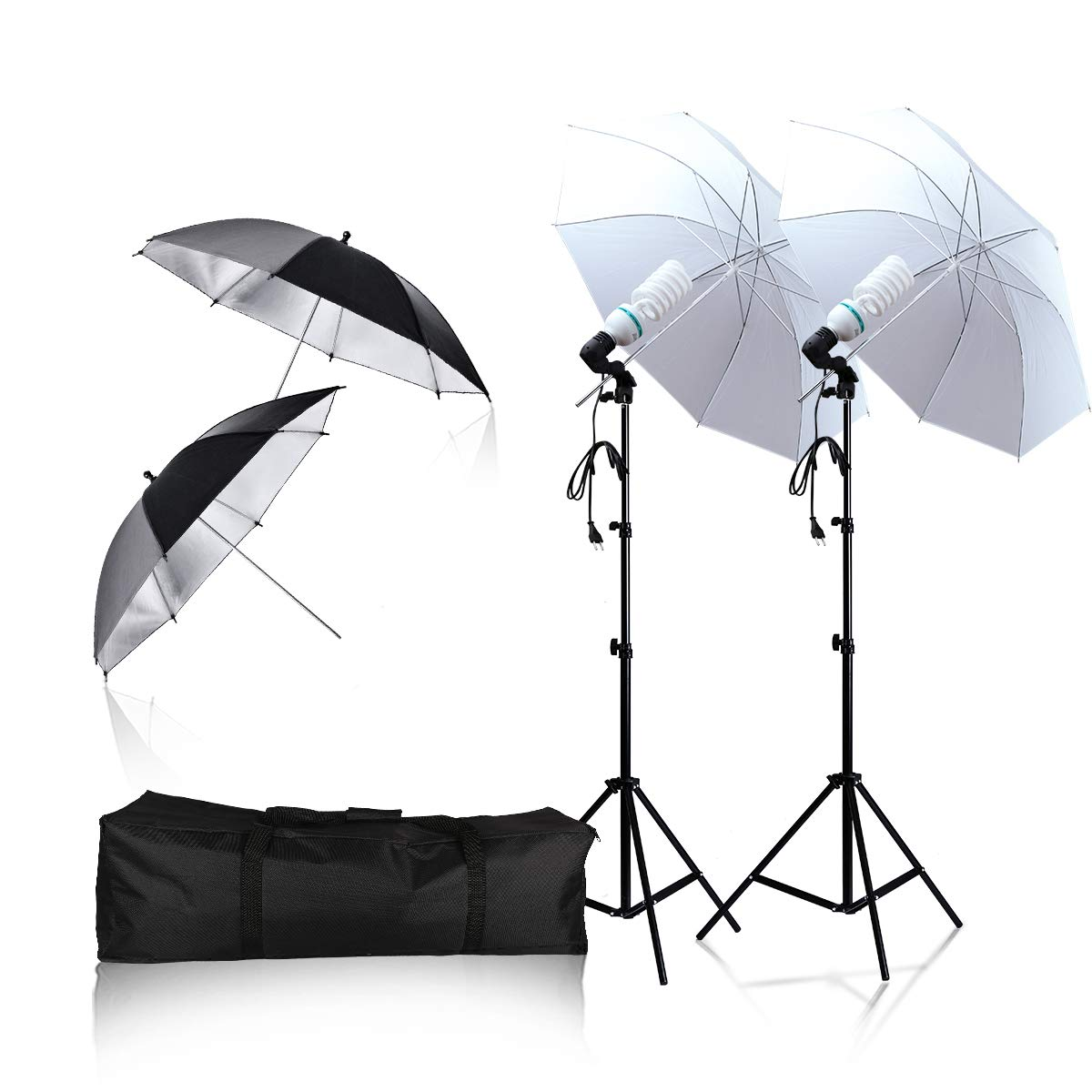 Soft Light Umbrella 135W 6500K Daylight Continuous Lighting Photography Light Kit, Professional Photography Studio Still Life Portrait Photography by YiXiang