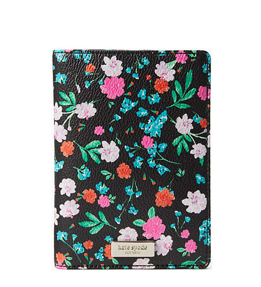 Kate Spade New York Shore Street Greenhouse Passport Holder - Black multi by Kate Spade New York