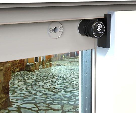 Magnetolock V2.0 REMACH(Blanco).Bloqueo de seguridad para ventanas y puertas correderas. Bloqueo con ventana cerrada y abierta. Ajustable posición de ventilación para seguridad niños, bebé y mascotas.: Amazon.es: Hogar
