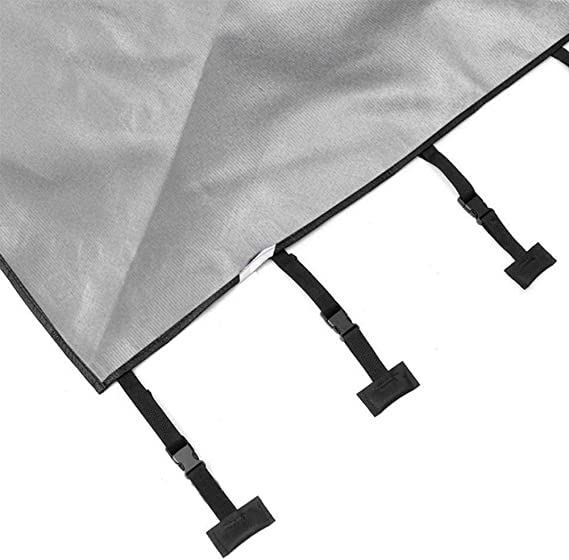 protecteur de caravane en tissu Oxford garde de bouclier antigel /étanche avec 2 lumi/ères LED Protecteur universel de couverture de remorquage avant de caravane