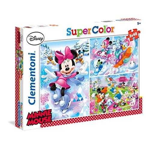 Clementoni 25198.8 - Puzzle - Minnie - 3 en 1 - 144 Pièces