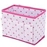 ompson Original Storage Box Multifunctional Wave Point Non-woven Fabric Foldable Storage Box Rectangle Container for Cosmetics Key Comb ROSE