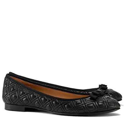 Tory Burch Marion Quilted Ballet Flats Shoes (7, Black)