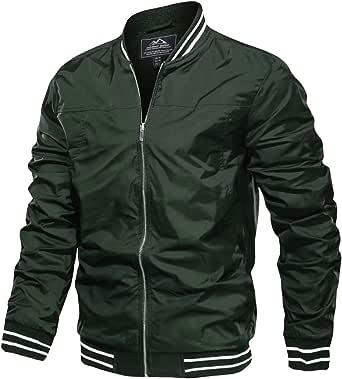 MAGCOMSEN Men's Jacket Lightweight Windbreaker Bomber Jacket Windproof Casual Jacket Outwear