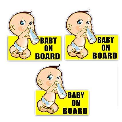 Glield 3 Piezas Cartel Aviso Baby on Board, Bebé a Bordo ...