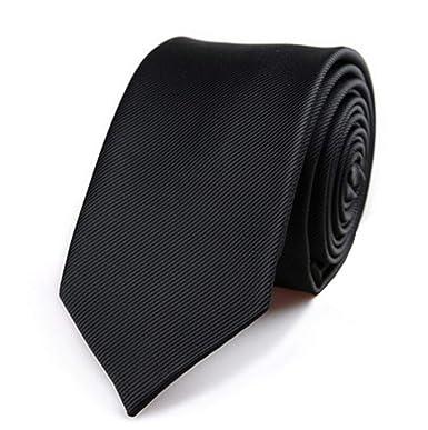 Amazon.com: Skinny - Corbata de cuello de poliéster lisa ...