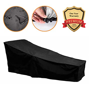 82 Inch Water Resistant Patio Chaise Lounge Covers Durable Outdoor Lounge  Chair Cover, Fading