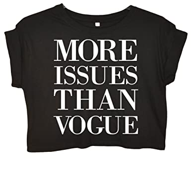 56ca030fde570 More Issues Than Vogue Crop Top  Amazon.co.uk  Clothing