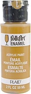 product image for FolkArt Enamel Glass & Ceramic Paint in Assorted Colors (2 oz), 4015, Yellow Ochre