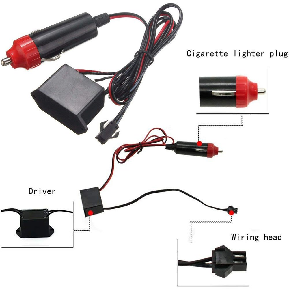 audi wiring visor lamp best wiring libraryamazon com homdsim 118inch 300cm auto car interior decor led neon light lamp glow