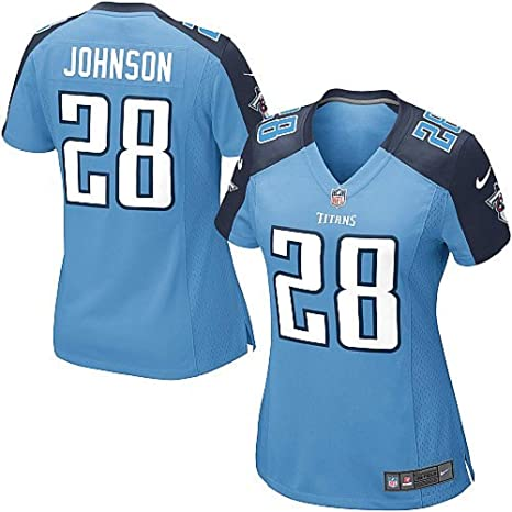 e8465b881 Image Unavailable. Image not available for. Color  NIKE Replica Chris  Johnson Jersey Light Blue 28 Womens Color Tennessee Titans Game NFL ...