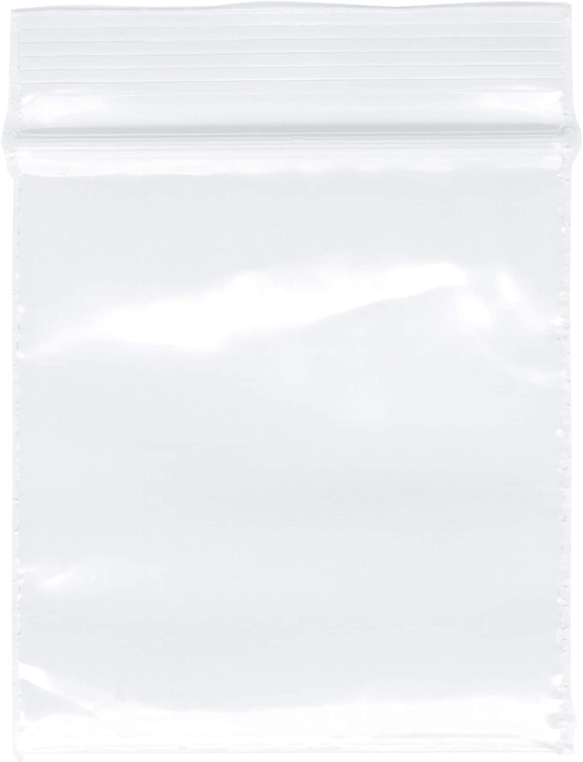 "Plymor Zipper Reclosable Plastic Bags, 2 Mil, 1.5"" x 1.5"" (Pack of 500)"