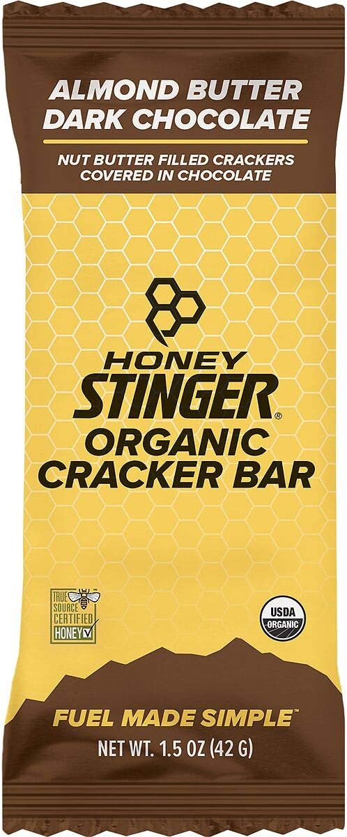 Honey Stinger Cracker N Nut Butter Snack Bars – 12-Pack Almond Butter and Dark Chocolate, One Size