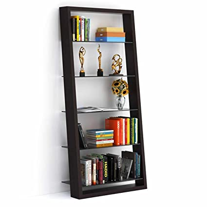 BDI Eileen 75quot Leaning Shelf Bookcase Finish Espresso