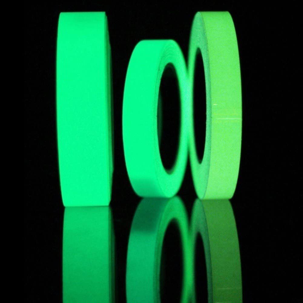 Reflective Tape Glow In The Dark Luminous Fluorescent Night Self Adhesive Safety Sticker By Delaman 15mm X 3m Amazon Com