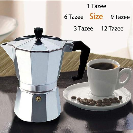 Cafetera Moka, Cafetera MMKICC Cafetera Mocha Cafetera Moka Filtro de acero inoxidable Percolador de café espresso italiano Cafetera, 2 tazas (100 ml): Amazon.es: Hogar