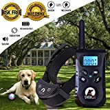 Training Dog Collar - Dog Shock Collar Bark Training Collar for Small Medium Large Pet with remote(Upgraded),Hihamer Rechargeable Waterproof,Beep Vibration Shock(No Harm to Dogs) 3 Modes 1800fts No Problem Swimming Shower