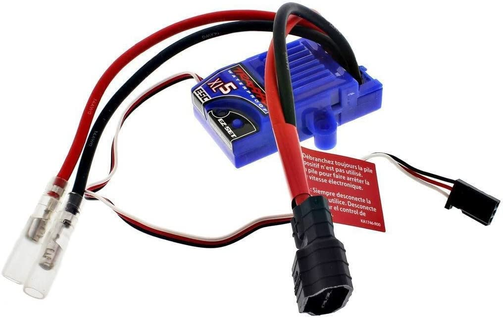 TRAXXAS STAMPEDE XL-5 ESC 3018R,LOW PROFILE WATERPROOF ESC WITH LVD & iD Connector