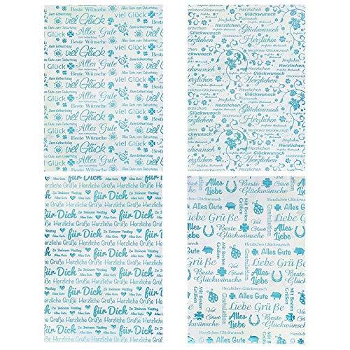 Lot de 20 feuilles de papier cartonn/é uni A4 250 g//m/² 4 motifs 5 couleurs