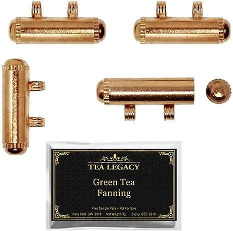 Yogic Mantra - Amuleto de taweez de cobre (4 medallones de tamaño pequeño de 1 pulgada con