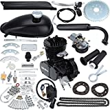 """Iglobalbuy 80CC 2 Stroke Gas Engine Motor Kit for 26""""-28""""Wheel Motorized Bicycle(Black)"""