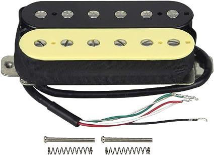 carvin humbucker guitar wiring diagram amazon com fleor electric guitar humbucker pickups bridge alnico  fleor electric guitar humbucker pickups