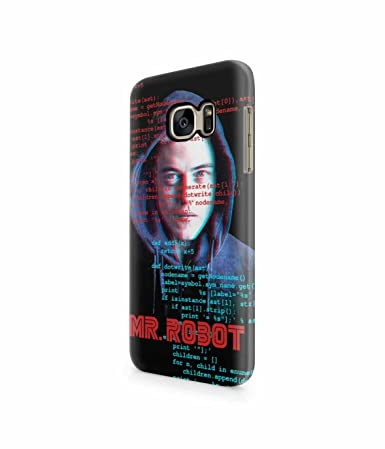 Mr  Robot Scripts Plastic Snap-On Case Cover Shell For Samsung
