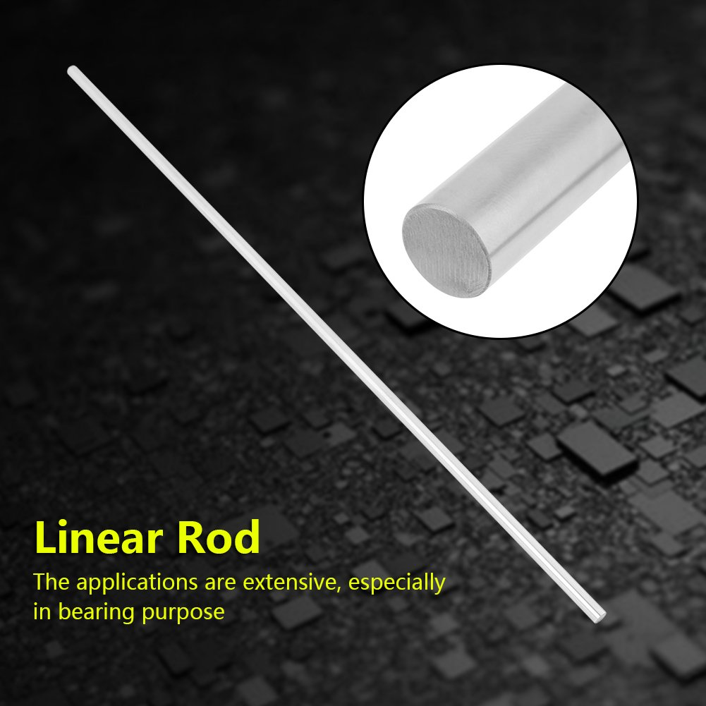 Linear Rod 8x500mm 304 Stainless Steel Linear Shaft Cylinder Rail for Linear Motion Automatic Machinery Injection Molding Machine Etc Linear Rod