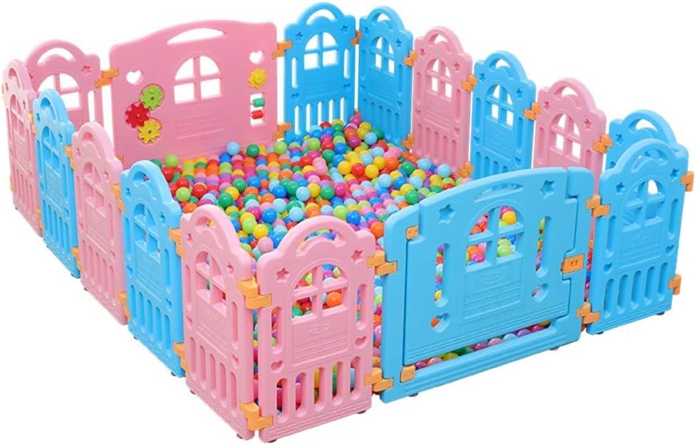 子供用ベビーサークル 赤ちゃん幼児の安全ベビーサークル玩具赤ちゃん幼児の屋内マリンボールプール遊び場クロールフェンス (色 : 002, サイズ : 152.5x186.5x60cm)