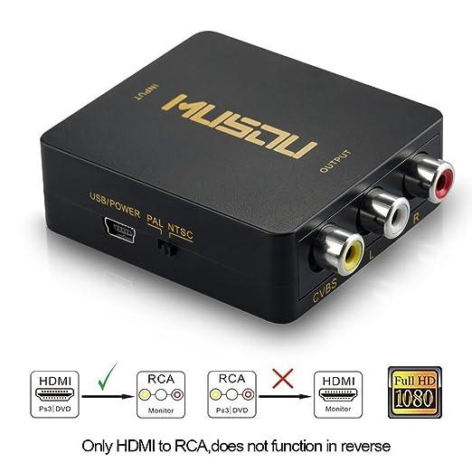 107 opinioni per Musou Adattatore convertitore da HDMI a segnale AV CVBS RCA Audio video PAL+NTSC